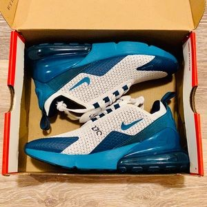 Nike Air Max 270 GS RF White Teal Running Shoes